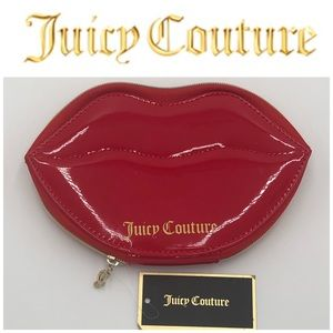 Juicy Couture Red Lips ZIP Around Jewelry Case